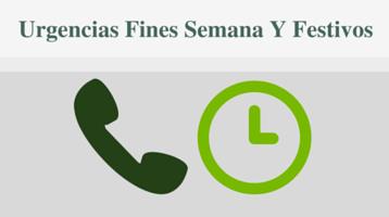 Funcionalidad – Servicio de Urgencias fines semana y festivos.
